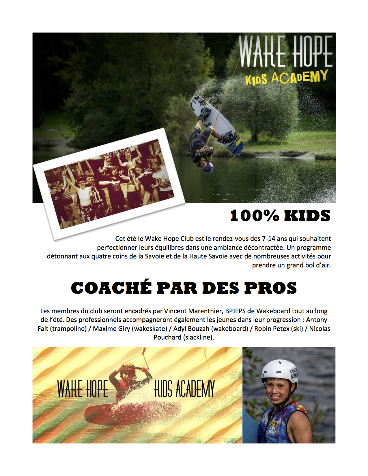 Wake Hope Kids Academy : Un club 100% kids